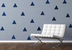 6 x 6 inch. vinyl wall sticker triangles