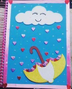 Lindo o caderno de Plano de Aula da @laizasouzah tema #ChuvaDeAmor ☔❤ Compartilhando #Fofurices #Pedagogia #EducaçãoInfantil #Pedagoga #Professora #VidaDeProfessora #PedagogiaeCorujices Foam Crafts, Diy And Crafts, Crafts For Kids, Paper Crafts, Holiday Homework, Decorate Notebook, Notebook Covers, Paper Tags, Writing Paper