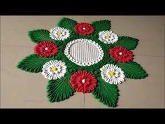 Innovative and Creative Rangoli Designs Easy Rangoli Designs Diwali, Rangoli Designs Latest, Rangoli Designs Flower, Free Hand Rangoli Design, Small Rangoli Design, Rangoli Ideas, Diwali Rangoli, Rangoli Designs With Dots, Rangoli Designs Images