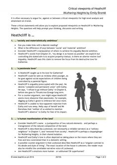 Heathcliff has been described as both an archetypal romantic hero     Kidakitap com   Writing a book report in mla format About Emily Bronte