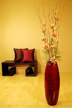 decorate with vases | ... lot about you and a bamboo floor vase could be just the item you need