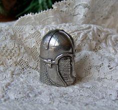 Vintage Pewter Thimble Coppergate York Helmet