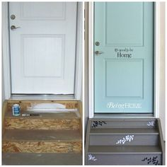 Los garajes pueden ser lugares deprimentes, agrega algo de color y pinta la puerta de acceso a tu casa.