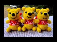 Pooh Crocheting หมีพูร์ถักไหม - YouTube