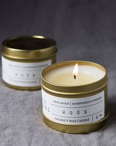 Image result for gold candle tins