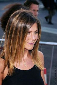 Long Straight Ombre Hair - Jennifer Aniston Hairstyles #ombrestraighthair