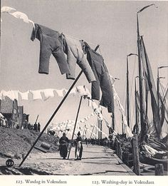 Uit het boekje 'Nederland' van Kees Scherer uit 1960 p 123: Was te Volendam