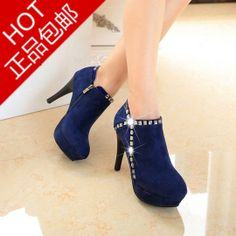 Luxury rhinestone velvet boots fashion ankle boots sexy high-heeled shoes party shoes