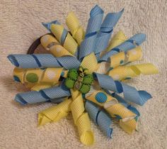 Spring time korker bow pony o by ForBabyandMeBoutique on Etsy, $4.75