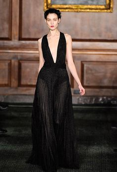 Bill Blass Fall Collection 2012.  I would wear this dress into the ground.  I want it!