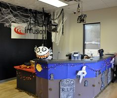 decorating your office. Get Your Surroundings In A Festive Mood By Decorating Desk With Fake Cobwebs, Plastic Spiders, Pumpkins, Or Other Creatively Spooky Decor. Office
