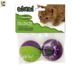 Working cat parents often worry about their cats being bored when left home alone all day, then becoming mischievous and destructive. Toys like catnip cigars, a talking ball, or a Birdland DVD will keep cats happy and out of trouble.: Go!CatGo! Play-n-Treat Balls