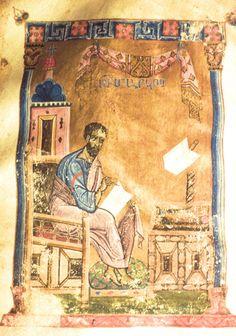 MINIATURES - Erevan, Matenadaran, MS 311, Sebastia Gospel, miniatures of the XIIth century, St. Mark. Photo: Ara Güler