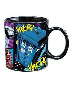 Another great find on #zulily! Doctor Who Dark Comic Mug by Doctor Who #zulilyfinds