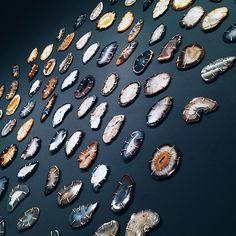 Agate display at Melissa Joy Manning's SoHo shop