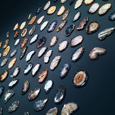 Agate display at Melissa Joy Manning's SoHo shop