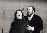 """Luciana Serra und Luciano Pavarotti in """"Lucia di Lammermoor""""- Milano,1983"""