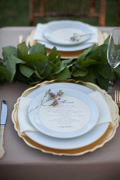 """Last Pinner wrote: """"Pretty pink wax flower placed on menu plate ~ we ❤ this! moncheribridals.com"""""""