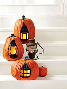 pumkin lanterns - I want to try this!