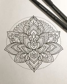 Mandala tattoos have been popular around the world for many years, and now its trend is getting higher and higher. mandala comes from Hinduism and Buddhism, and many people choose it as a tattoo design because it looks delicate and beautiful. Mandala Art, Simple Mandala Tattoo, Dotwork Tattoo Mandala, Mandalas Painting, Mandalas Drawing, Mandala Tattoo Design, Lotus Tattoo, Lotus Mandala Design, Mandala Sketch