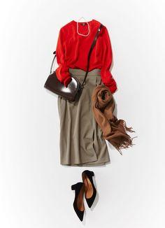 真っ先買い決定!MORE厳選「賢い秋服ベスト5」|Today's Pick Up|ユニクロ Smart Casual Work Outfit, Office Looks, Street Outfit, Vintage Vibes, Uniqlo, Daily Fashion, Bomber Jacket, Fashion Outfits, Skirts
