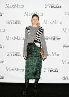 Olivia Palermo, wearing Max Mara at Max Mara Celebrates : the New York City Ballet Annual Luncheon