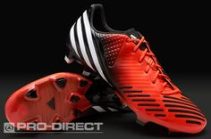 adidas Football Boots - adidas Predator LZ TRX FG - Firm Ground - Soccer Cleats - Infrared-White-Black