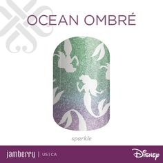 Ocean Ombré with Ariel, The Little Mermaid https://noelgiger.jamberry.com/us/en/shop/shop/for/nail-wraps?collection=collection%3A%2F%2F1128&show=all#.VroevoVMHqD