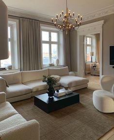 Home Room Design, Dream Home Design, Home Interior Design, Living Room Designs, House Design, Apartment Interior, Room Interior, Interior Garden, Home Living Room