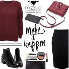 Make it happen/Mizzue Accessories by helenevlacho on Polyvore featuring мода, WearAll, Alexander McQueen, Bobbi Brown Cosmetics, women's clothing, women's fashion, women, female, woman and misses