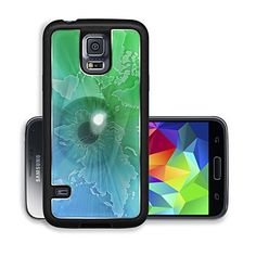 Luxlady Premium Samsung Galaxy S5 Aluminium Snap Case Digital collage of an eye over a map of the world green IMAGE ID 1327680 ** Be sure to check out this awesome product.