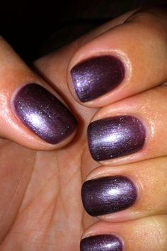CND Shellac - Vexed Violette. I dont usually love purple nails but this looks pretty cool