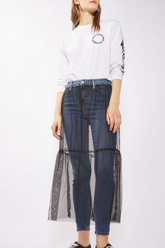 MOTO Tulle Skirt Jamie Jeans - New In Fashion - New In - Topshop USA