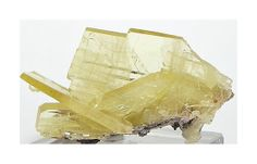 Yellow Barite Crystal Cluster Mineral Specimen by FenderMinerals,