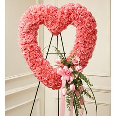 Lavishly Pink Heart Wreath