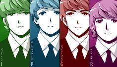 4 forskellige farver