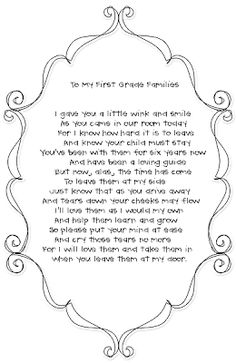 Langston's Learners: To My First Grade Families