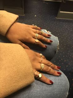 Cute Jewelry, Body Jewelry, Jewelry Accessories, Fashion Accessories, Jewellery Rings, Hippie Jewelry, Ringe Gold, Accesorios Casual, Grillz