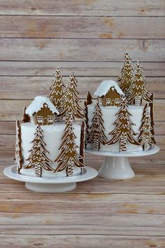 Gingerbread Forest House Christmas Cake from Blossom Tree Cake Co Harrogate North . - Gingerbread Forest House Christmas Cake from Blossom Tree Cake Co Harrogate North … - Christmas Cake Decorations, Christmas Sweets, Holiday Cakes, Noel Christmas, Christmas Goodies, Christmas Cakes, Xmas Cakes, Christmas Cake Designs, Tree Decorations
