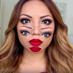 seeing double for halloween from promise tamang holiday excitement pinterest makeup costume makeup and halloween makeup
