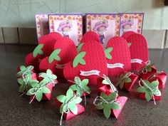 Strawberry Shortcake Invites and party favors made for a little girls birthday party