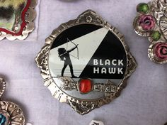 Another gorgeous belt buckle from Sweetbird Studio.