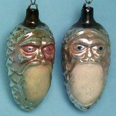 Two Santa Claus Heads