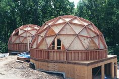 Geodesic ~ building it on the garage is a great idea