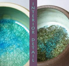 Swirled Gemstone topped Stoneware Box - Keepsake dish - Pottery - Crystal. $26.00, via Etsy.