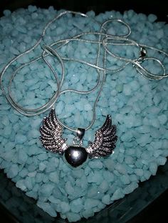 Heart with Wings necklace brand new $5 that includes shipping ! #charms #charmsbracelet