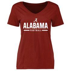 Alabama Crimson Tide Women's Crimson Custom Sport V-Neck T-Shirt
