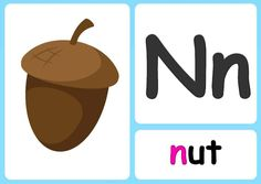 N alphabet flashcards Sing The Alphabet, Alphabet Phonics, Alphabet Songs, Phonics Chart, Learning Phonics, Phonics Sounds, Uppercase And Lowercase Letters, Writing Practice, Teaching Materials