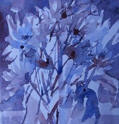 Supporting our NHS - Turning the Gallery Blue by Louise Naimian Fruit Art, Abstract Expressionism, Art Reference, Seeds, Gallery, Artist, Flowers, Blue, Roof Rack