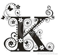 Letter K via www.dreamstime.com